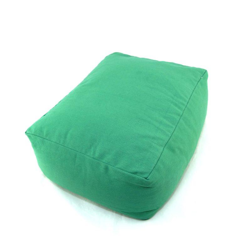 Meditationskissen | Yogakissen | Yoga Sitzkissen | rechteckig | grün
