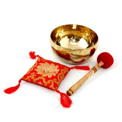 Klangschale gehämmert neu glänzend 913g, Tibetische Klangschalen, Therapieklangschalen, Klangschale kaufen