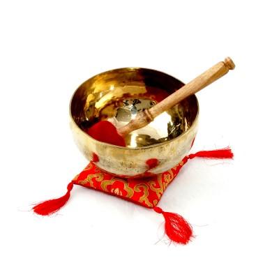 Klangschale gehämmert neu glänzend 913g, tibetische Klangschale, Therapieklangschale, Klangschalen kaufen