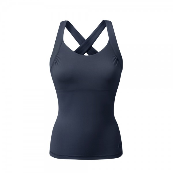 Yoga Kleidung   Curare   Yoga Wear   Cross Top   night-blue   Yoga Tops