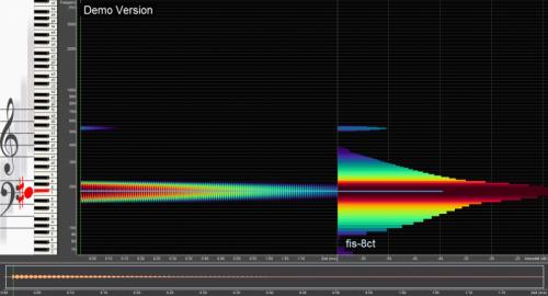 Tibetische Klangschale Frequenzanalyse Bild