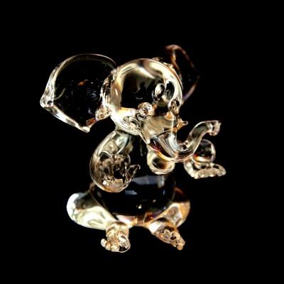 Ganesha Figur   aus Glas   klar   Glaskunst   Ganesha kaufen
