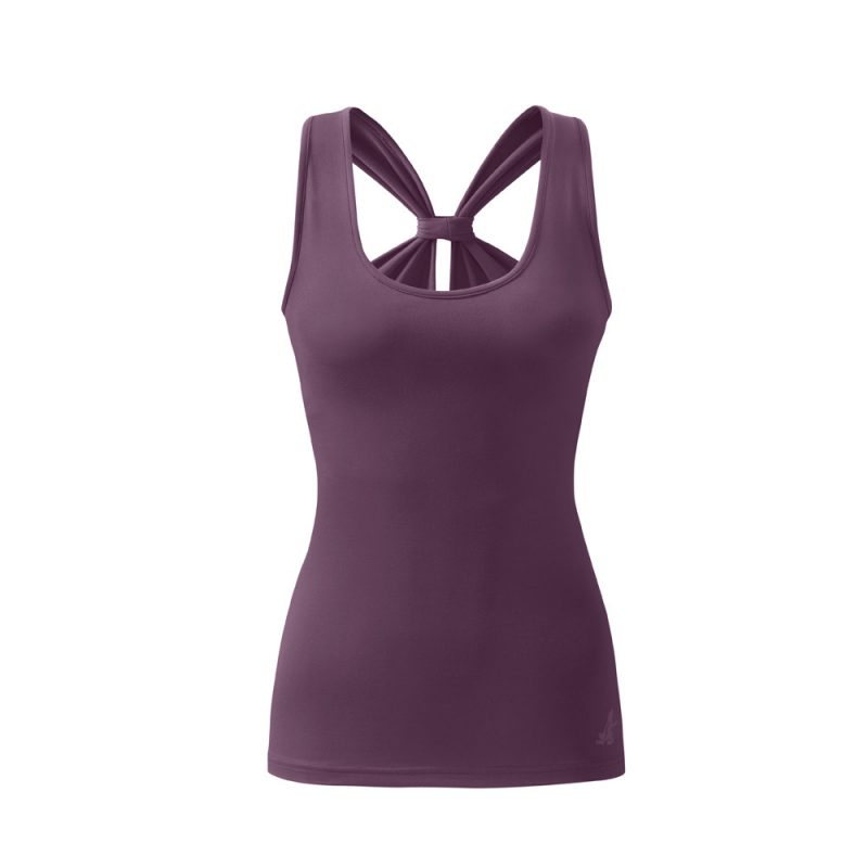 loop top purple yoga top yoga kleidung yoga stilvoll. Black Bedroom Furniture Sets. Home Design Ideas