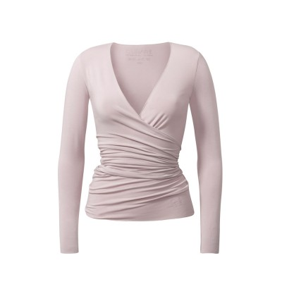 Yoga Kleidung | Curare | Yoga Shirt | Wrap Jacket | rose| Yogabekleidung | Yoga Shirt Damen