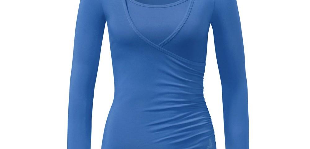 Yoga Kleidung | Curare | Yoga Shirt | Wrap Shirt | kobalt| Yogabekleidung | Yoga Shirt Damen
