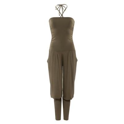 Yoga Pants | Kamah |Overall | Sarouelhose lang Fiona aloe | Yoga Kleidung | Yogabekleidung | Yoga Hose