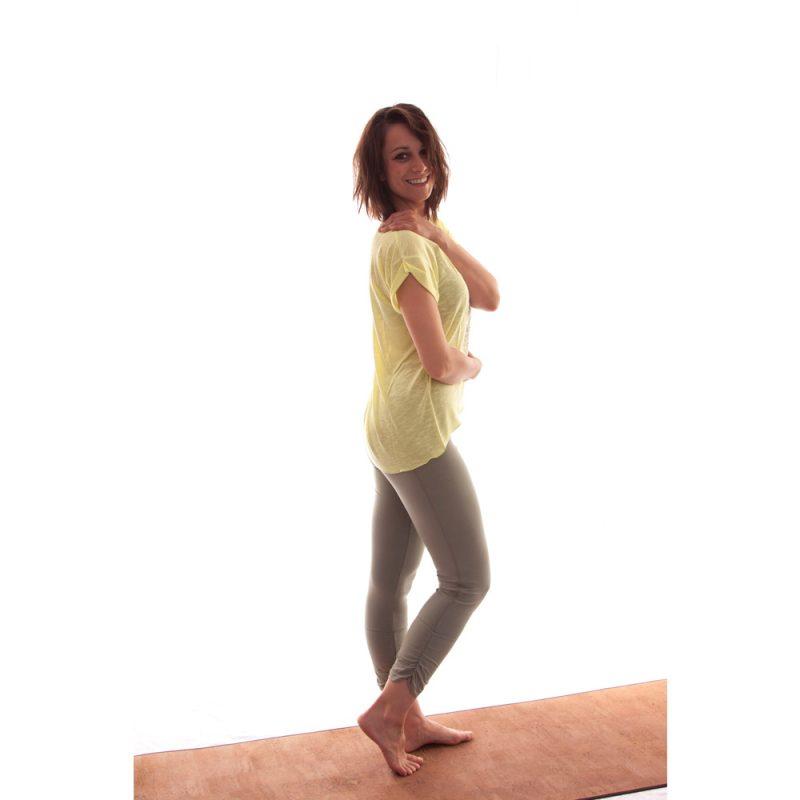 "Yoga Kleidung   Kamah   Yoga Shirt   ""Ireen""   lime   Yoga t-Shirts   Yoga Shirt Damen"
