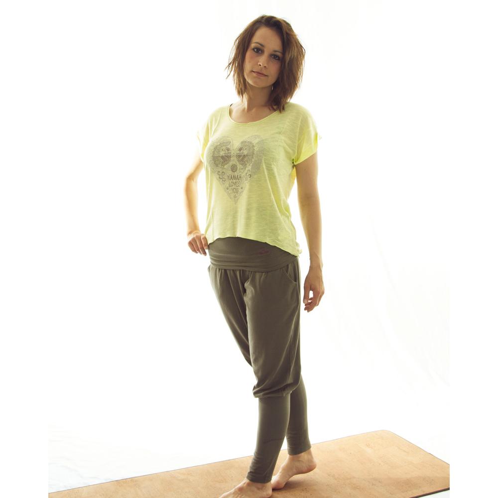 kurzarmshirt ireen lime im yoga shop von yoga stilvoll kaufen. Black Bedroom Furniture Sets. Home Design Ideas