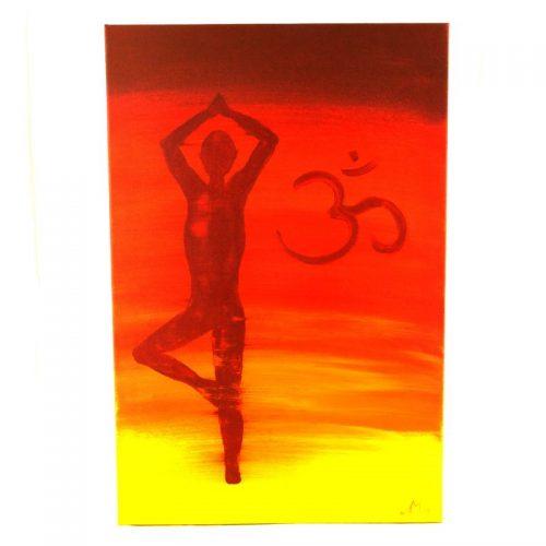 Gemälde Vrkshasana OM | Energiebilder | Spirituelle Bilder kaufen