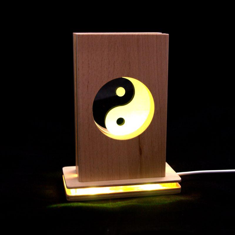 Meditationsleuchte | Stimmungslicht | Lampe| Yin Yang gelb | Natur farben | mit leucht Fuss