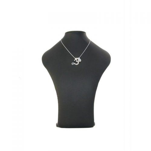 Om Anhänger | Silber Anhänger | Halskette | Schlangenkette Silber | 45 cm | Halskete Silber | Yoga Schmuck