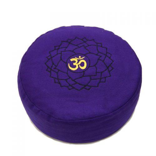 Meditationskissen | Yogakissen | Yoga Sitzkissen | Kronenchakra | violett