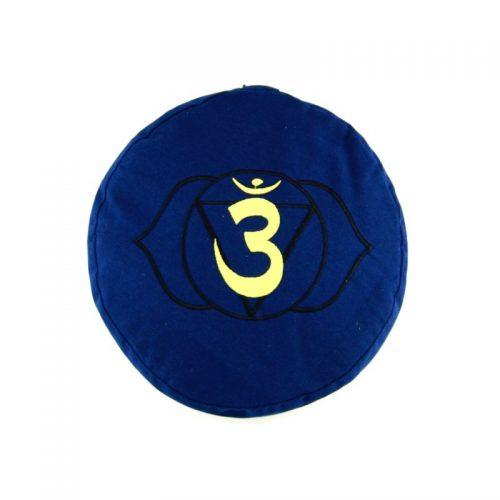 Meditationskissen | Yogakissen | Yoga Sitzkissen | Stirnchakra | Blau