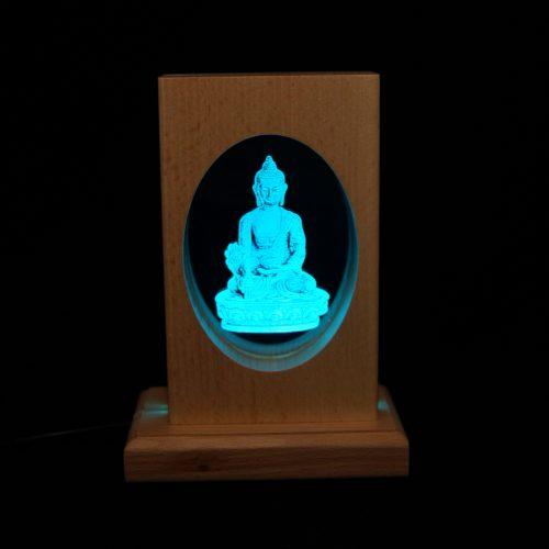 Meditationsleuchte | Stimmungslicht | Lampe| Medizinbuddha blau | Natur farben