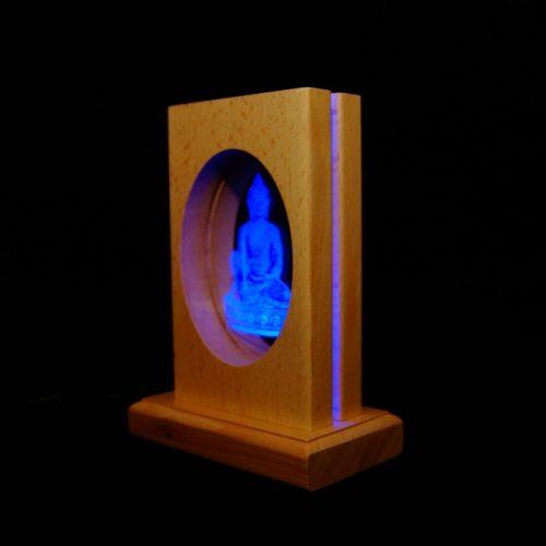 Meditationsleuchte | Stimmungslicht | Lampe| Medizinbuddha violett | Natur farben