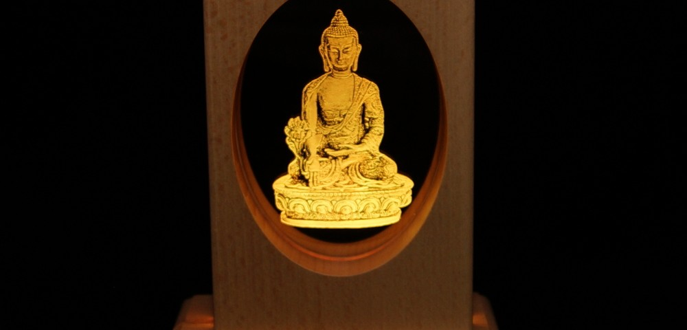 Meditationsleuchte | Stimmungslicht | Lampe| Medizinbuddha orange | Natur farben