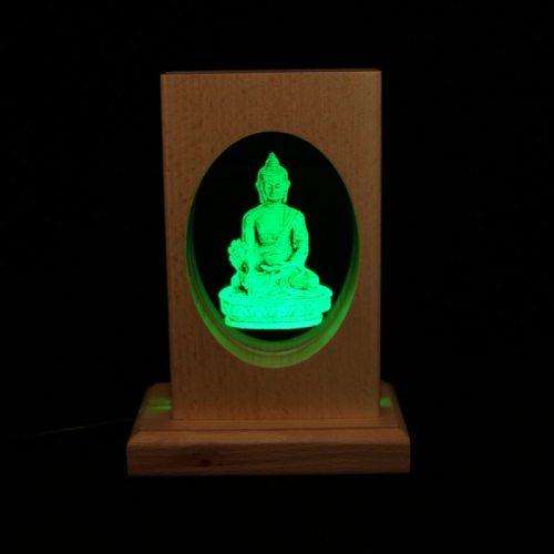 Meditationsleuchte | Stimmungslicht | Lampe| Medizinbuddha grün | Natur farben