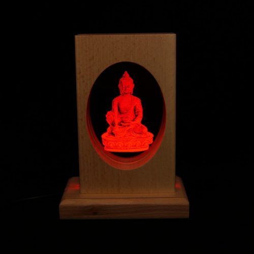 Meditationsleuchte | Stimmungslicht | Lampe| Medizinbuddha rot| Natur farben