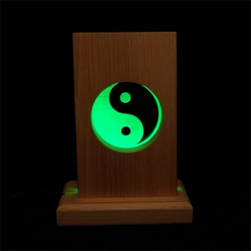 Meditationsleuchte | Stimmungslicht | Lampe| Yin Yang grün | Natur farben