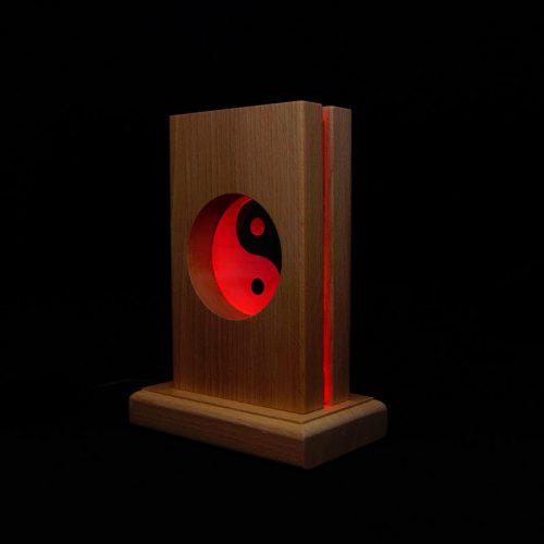 Meditationsleuchte | Stimmungslicht | Lampe| Yin Yang rot | Natur farben