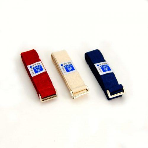 Yoga Gurt | Rot | Blau | Natur | hohe Reißfestigkeit| Metall Schnalle