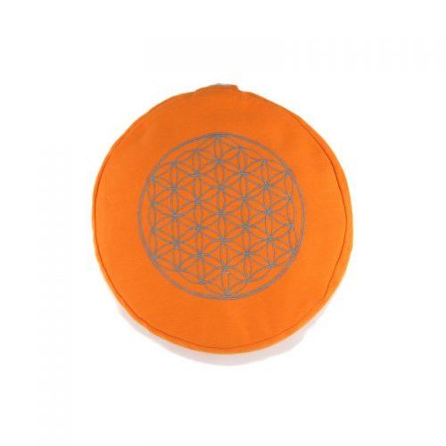 Yogakissen | Meditationskissen | Meditationskissen kaufen | Yoga Sitzkissen | Yogakissen kaufen | Blume des Lebens Orange