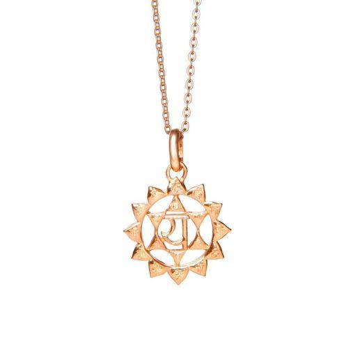 Gold Anhänger Herz Chakra Rosegold | Gold Anhänger | Yoga Schmuck | Chakra Anhänger | Gold Anhänger kaufen