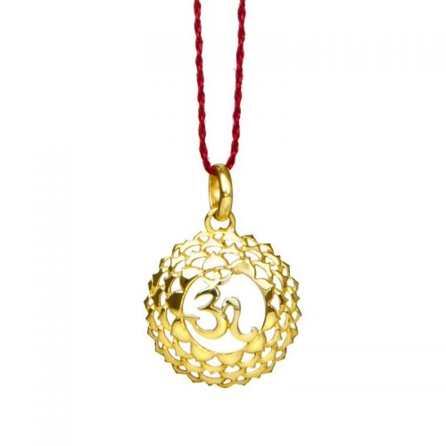 Kronen Chakra Anhänger | Gold Anhänger | Yoga Schmuck | Sterlingsilber in edler 18 Karat vergoldeter Ausführung