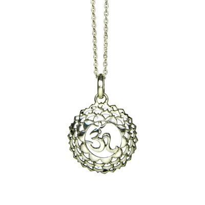 Kronen Chakra Anhänger | Silber Anhänger | Yoga Schmuck | Sterlingsilber
