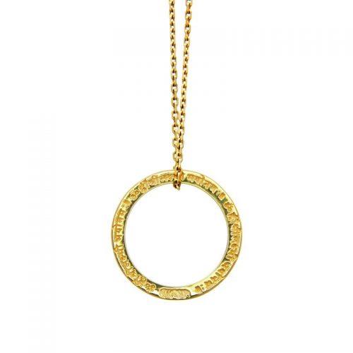 Gold Anhänger| Lakshmi Mantra Anhänger | ohne Öse | Yoga Schmuck | in edler 18 Karat vergoldeter Ausführung