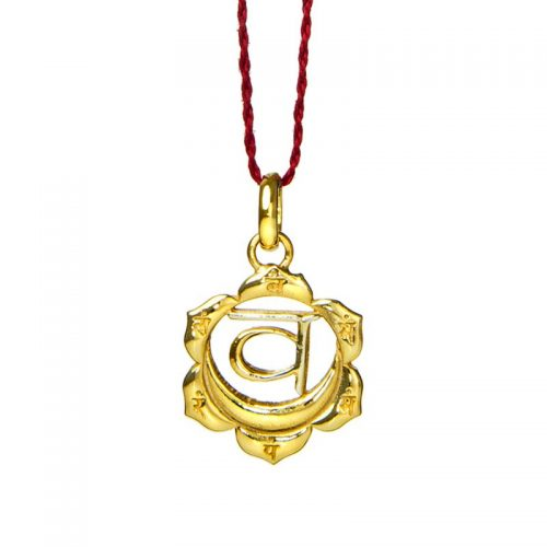 Sakral Chakra Anhänger | Gold Anhänger | Yoga Schmuck | Sterlingsilber in edler 18 Karat vergoldeter Ausführung