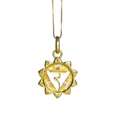 Solar Plexuss Chakra Anhänger Gold bei YOGA STILVOLL   Eternal Bliss   Chakra Schmuck kaufen   Chakra Anhänger