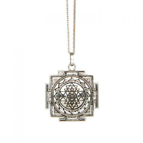 Sri Yantra Anhänger | Silber Anhänger| Yoga Schmuck | aus Sterlingsilber gefertigt | massiv Silber