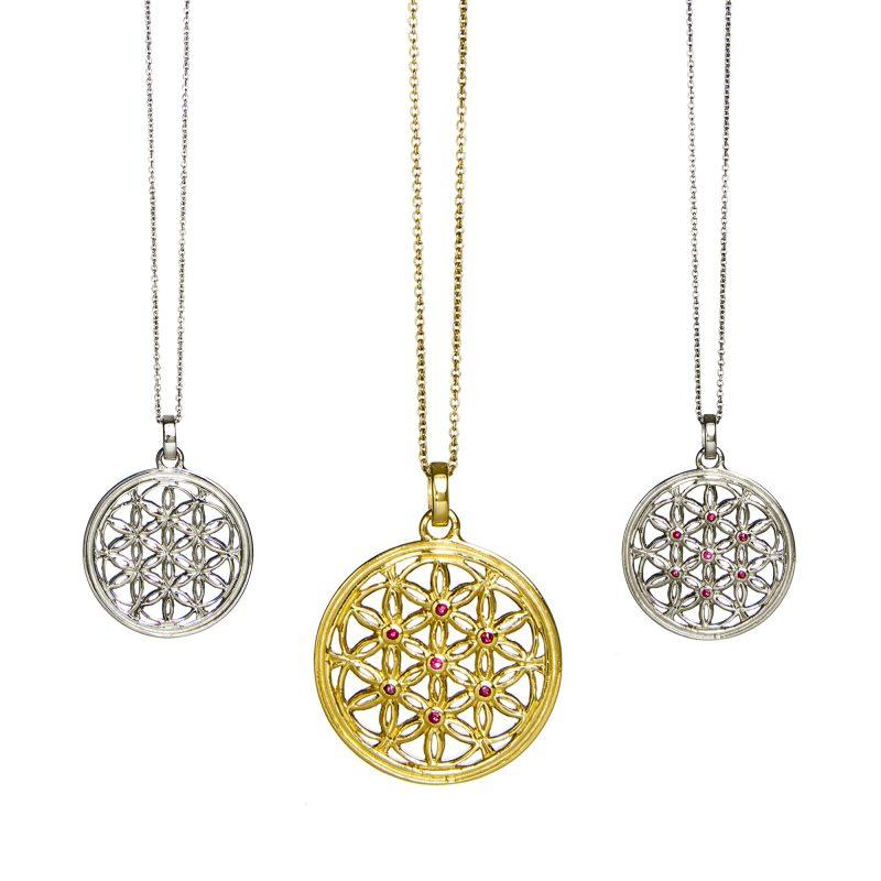 Blume des Lebens Anhänger | Blume des lebens Schmuck| Yoga Schmuck | Silber Anhänger