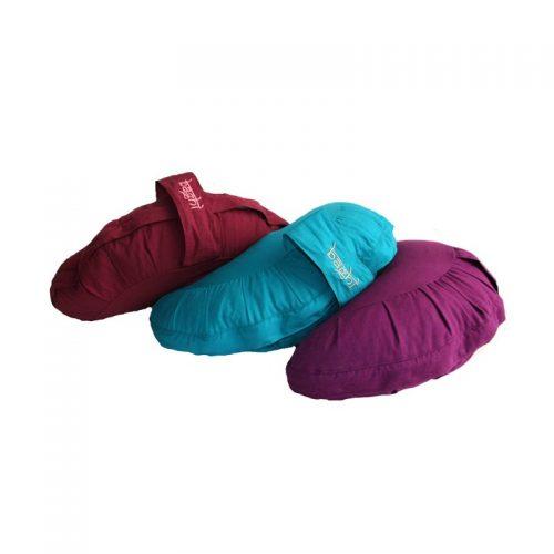 Meditationskissen | Yogakissen Halbmond |Yoga sitzkissen | in verschiedene farben, mit hochwertigem Bio-Buchweizenspelz gefüllt