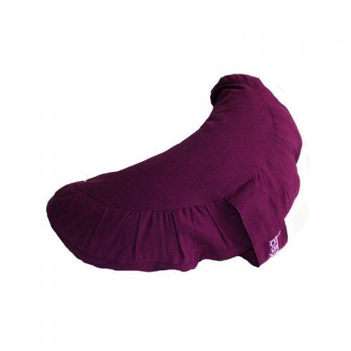 Meditationskissen | Yogakissen Halbmond |Yoga sitzkissen | violett, mit hochwertigem Bio-Buchweizenspelz gefüllt