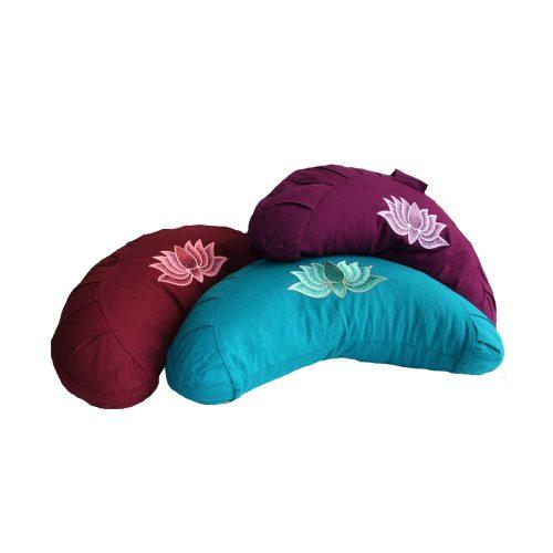 Yogakissen | Halbmondkissen | Meditationskissen | Meditationskissen kaufen | Yoga Sitzkissen | Yogakissen kaufen | Lotusblume in verschidene Farben