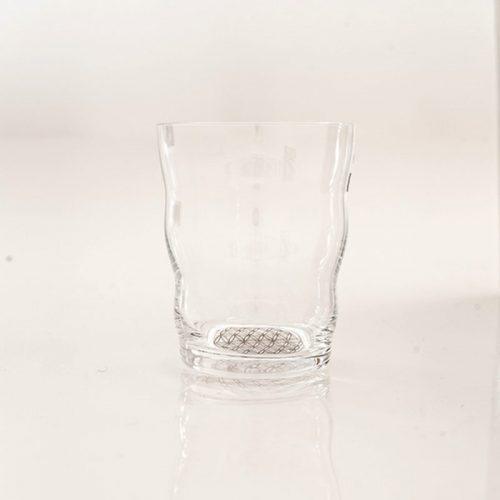 Trinkglas Jasmina, Lebensblume platinum | mit Blume des Lebens