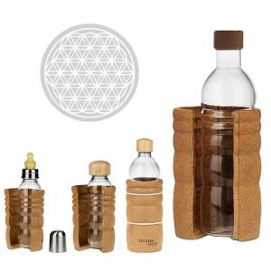 Trinkflaschen aus Glas | Glas Trinkflasche THANK YOU |Baby Trinkflasche THANK YOU | Glas Trinkflasche Lagoena |