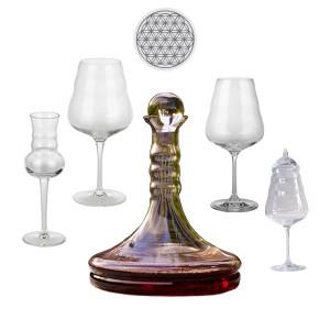Dekanter & Weinkaraffe Rubellumg, Weißweinglas Calix, Rotweinglas Calix, Destillatglas Calix