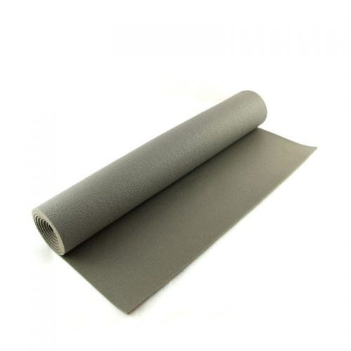 Yogamatten grau 183 x 60 x 0,3 Öko Tex | Reiseyogamatte | YOGA STILVOLL | rutschfeste Yogamatte