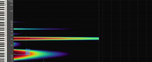 Große Tibetische Klangschale Frequenzanalyse Bild bei Yoga-Stilvoll 1957g