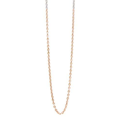 Halskette bicolor Silber Roségold Ankerkette | Ankerkette kaufen | Halskette kaufen | Yoga Schmuck | Halskette teilvergoldet Rosegold