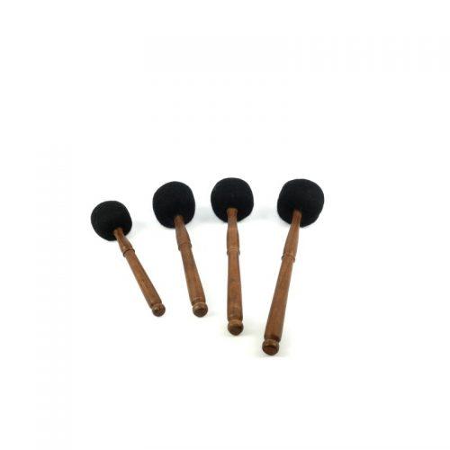 Klangschalen Klöppel Holz-Filz | Größen: S - M - L - XL