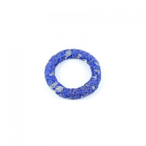 Klangschalenkissen Ring Blau 14.5 cm