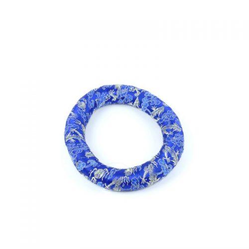 Klangschalenkissen Ring Blau 17.5 cm