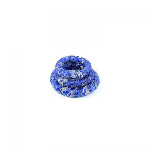 Klangschalenkissen Ring Blau