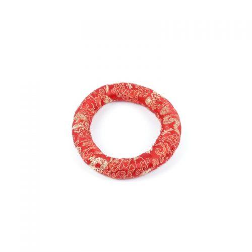 Klangschalenkissen Ring Rot 14.5 cm