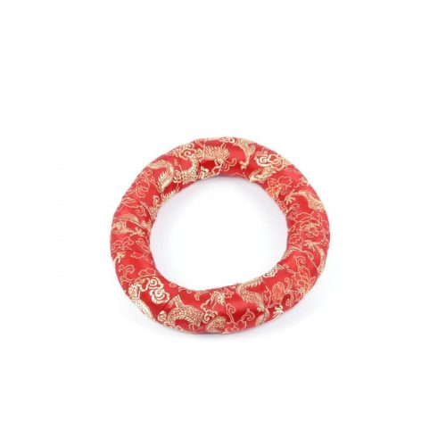 Klangschalenkissen Ring Rot 17.5 cm
