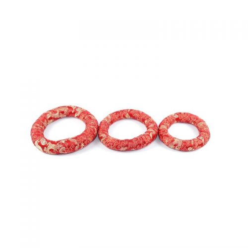 Klangschalenkissen Ring Rot